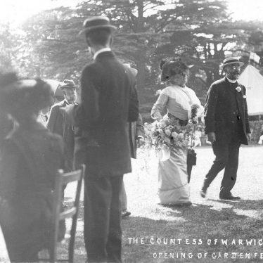 Warwick.  Countess at garden fete