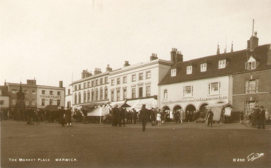 Warwick Market Square.  1920s |  IMAGE LOCATION: (Warwickshire County Record Office)