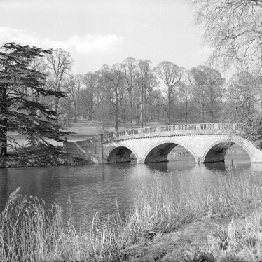 Compton Verney.  Arched bridge