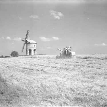 Chesterton.  Harvesting and windmill