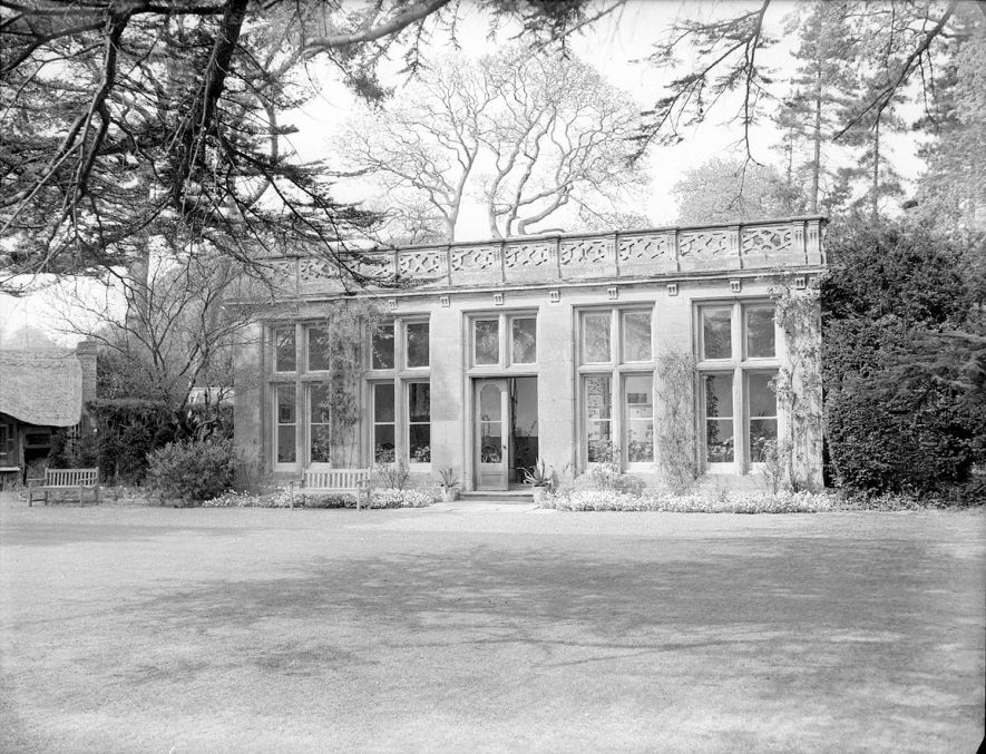 The Orangery tea-room at Charlecote Park.  April 30th 1958 |  IMAGE LOCATION: (Warwickshire County Record Office)