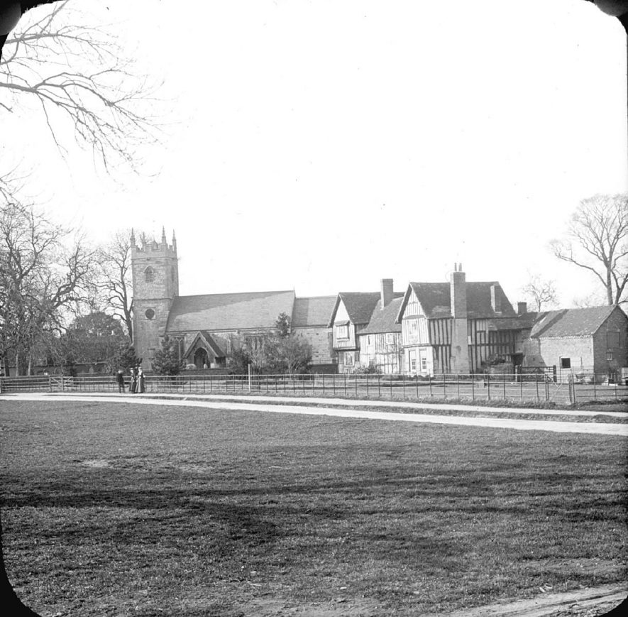 Clifford Chambers church and rectory.  1901 |  IMAGE LOCATION: (Warwickshire County Record Office)