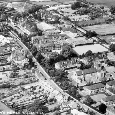 Coleshill.  Aerial view
