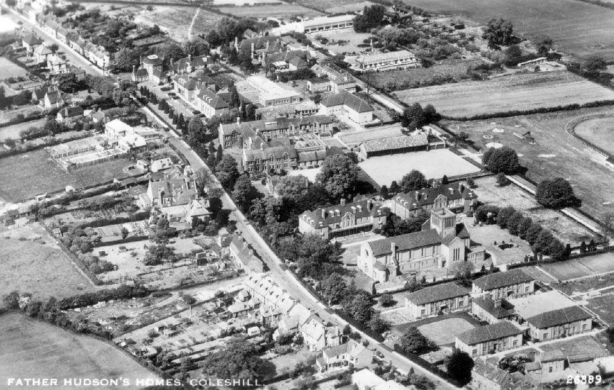 Aerial view of Father Hudson's homes, Coleshill.  1930s |  IMAGE LOCATION: (Warwickshire County Record Office)