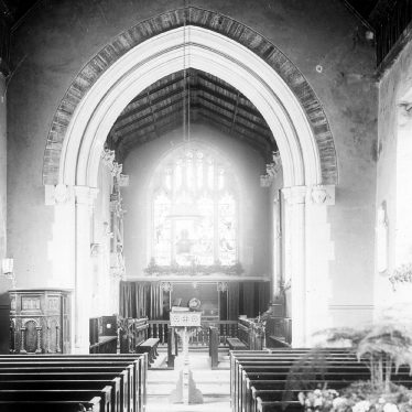 Clifford Chambers.  Church interior at Easter