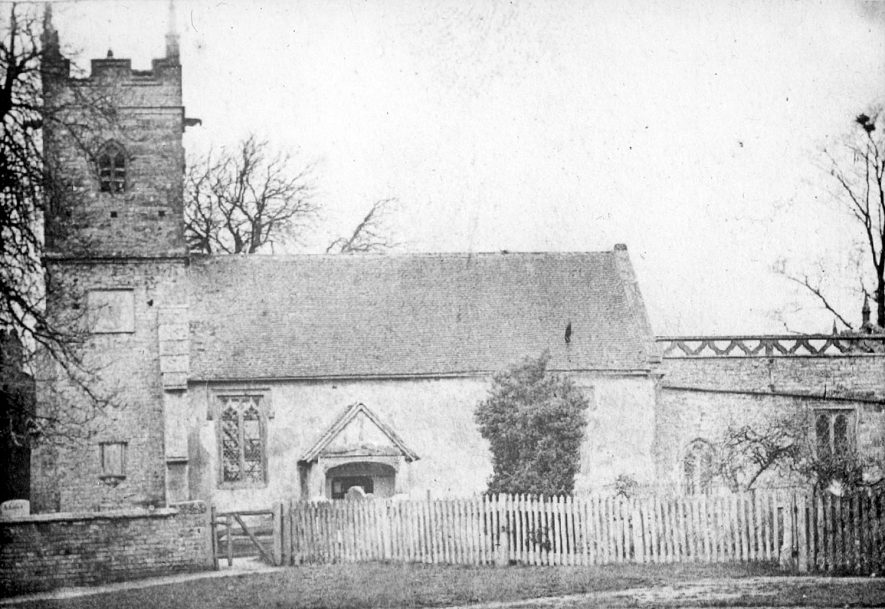 Exterior of St Helen's church, Clifford Chambers, before restoration in 1886. |  IMAGE LOCATION: (Warwickshire County Record Office)