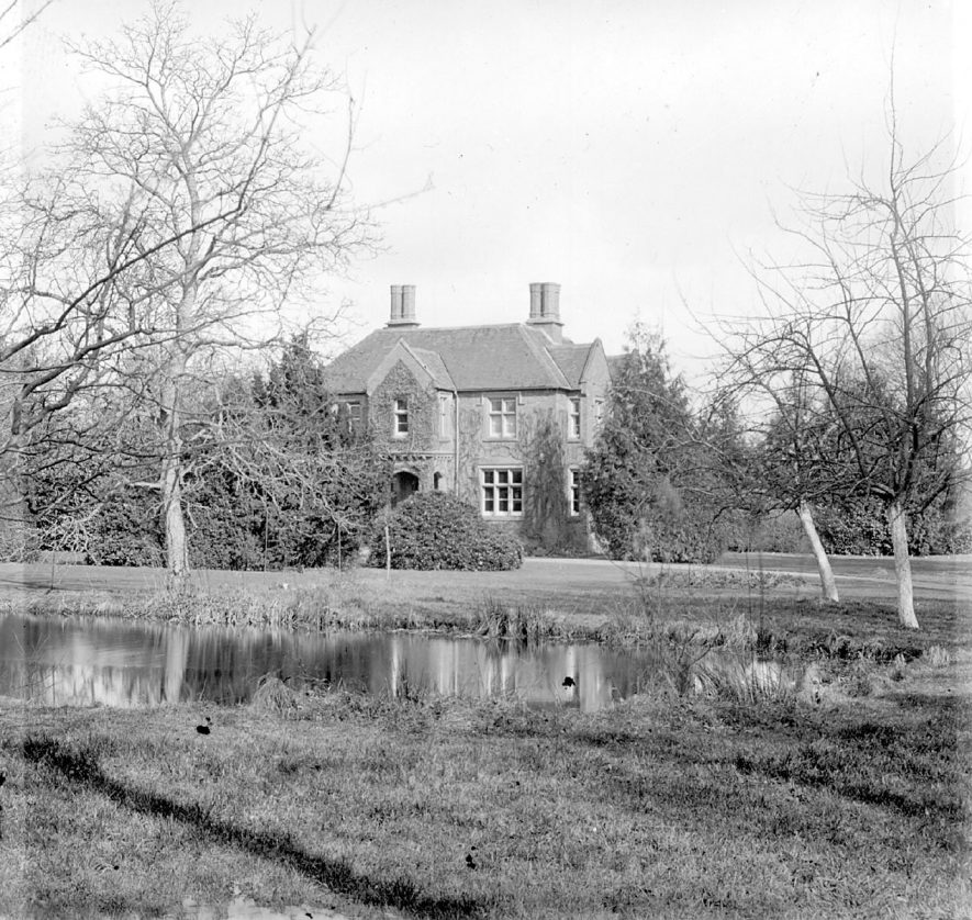 A large detached house and grounds in Milcote, Clifford Chambers.  1890s |  IMAGE LOCATION: (Warwickshire County Record Office)