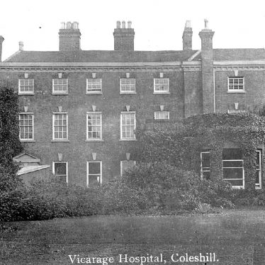 Coleshill.  Vicarage, V.A.D. Hospital