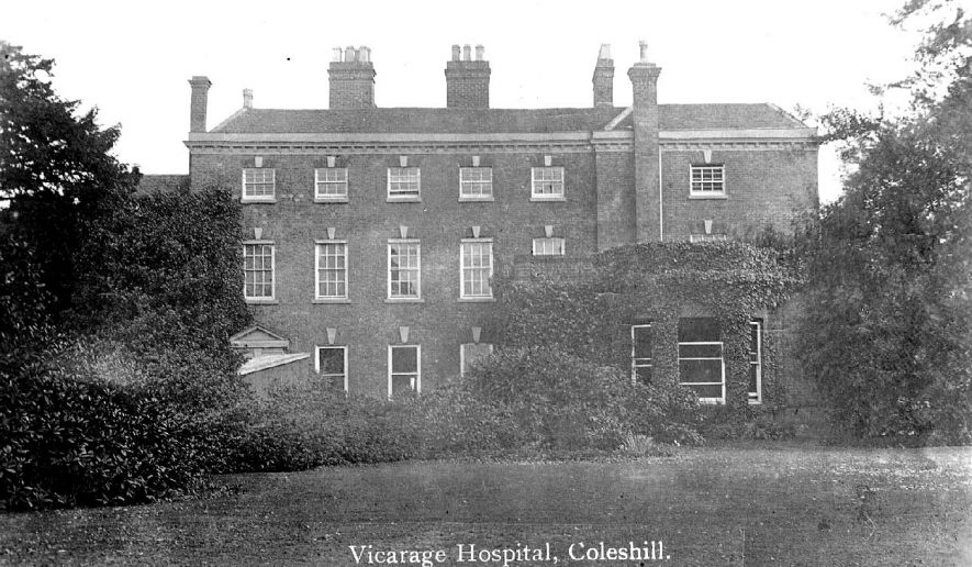 Coleshill vicarage was used as a V.A.D. Hospital from 1915. |  IMAGE LOCATION: (Warwickshire County Record Office)