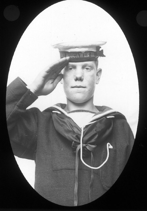 Mr Geoffrey Ivens of Clifford Chambers, in his sailor's uniform. He was later killed in the Great War.  1906 |  IMAGE LOCATION: (Warwickshire County Record Office) PEOPLE IN PHOTO: Ivens, Geoffrey, Ivens as a surname