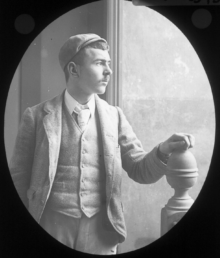 Portrait of Allen Smith of Clifford Chambers.  1900s   [The Smith family were millers in Clifford Chambers between 1872 and 1926.] |  IMAGE LOCATION: (Warwickshire County Record Office) PEOPLE IN PHOTO: Smith, Allen, Smith as a surname
