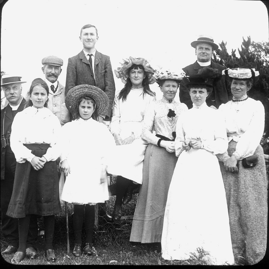 The Pippet family of Clifford Chambers pictured on Meon Hill, Quinton.  