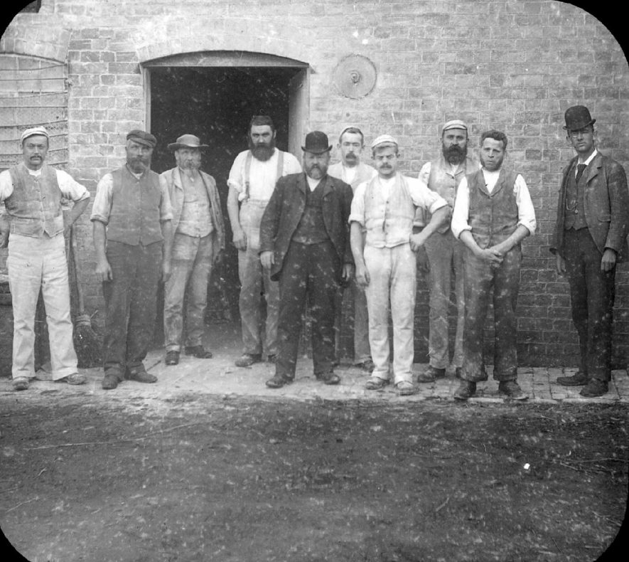 Mr R.S. Smith and his workers at Clifford Mill, Clifford Chambers.  1900s |  IMAGE LOCATION: (Warwickshire County Record Office) PEOPLE IN PHOTO: Smith, R S, Smith as a surname