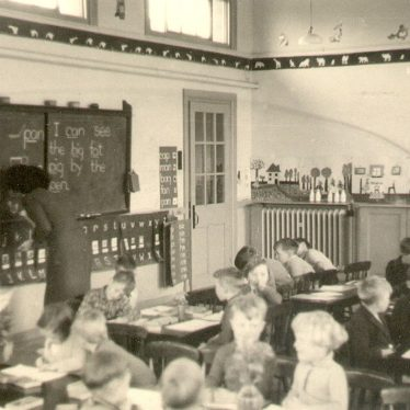 Warwickshire.  Children at school