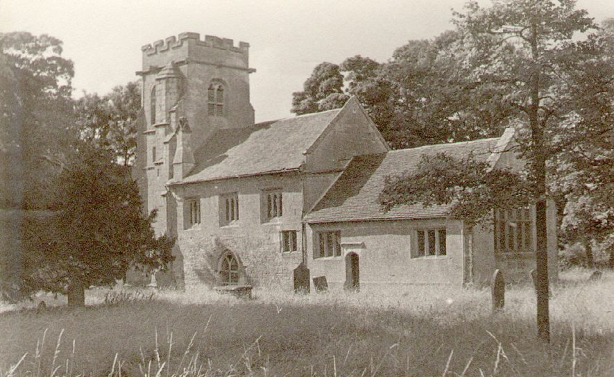 Exterior of St Michael's church, Baddesley Clinton.  1930s    IMAGE LOCATION: (Warwickshire County Record Office)