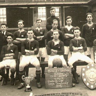 Binley.  Central School Old Boy's football team