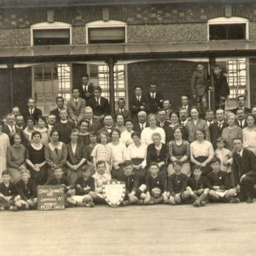 Binley.  Members and staff of school football club