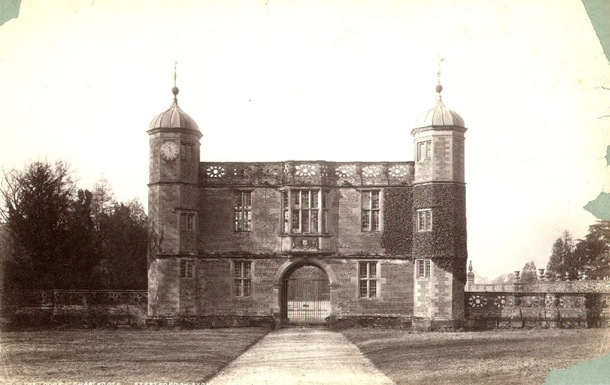 Charlecote Park gatehouse/lodge, from the east.  1900s |  IMAGE LOCATION: (Warwickshire County Record Office)