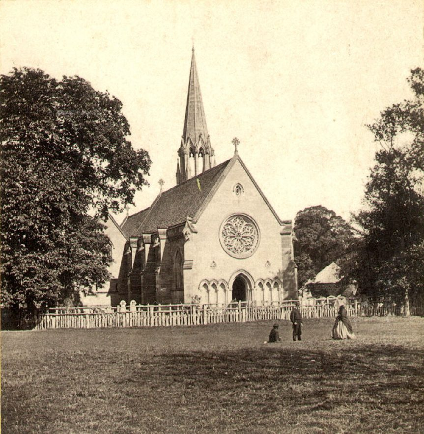 St Leonard's Church, Charlecote.  1860s |  IMAGE LOCATION: (Warwickshire County Record Office)