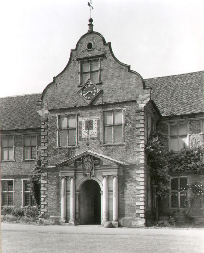 The main entrance to Arbury Hall stables. 1950s |  IMAGE LOCATION: (Warwickshire County Record Office)