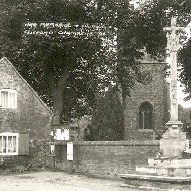 Clifford Chambers.  War Memorial and St Helen's church