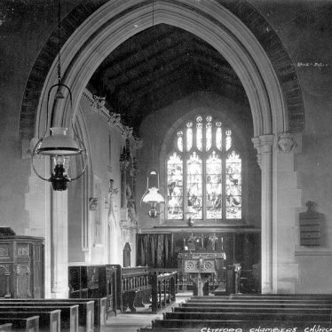 Clifford Chambers.  St Helen's church interior