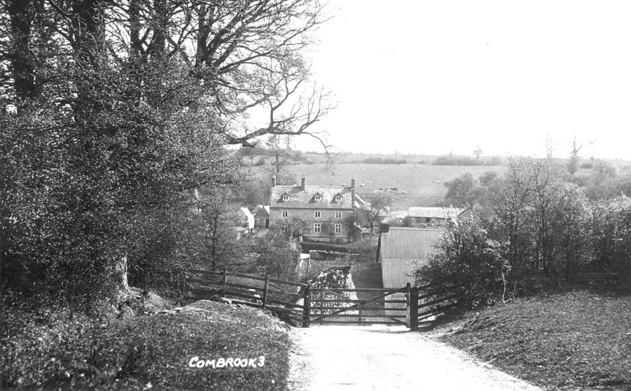 Combrook, looking towards a farm. The lane may be flooded. 1930s |  IMAGE LOCATION: (Warwickshire County Record Office)
