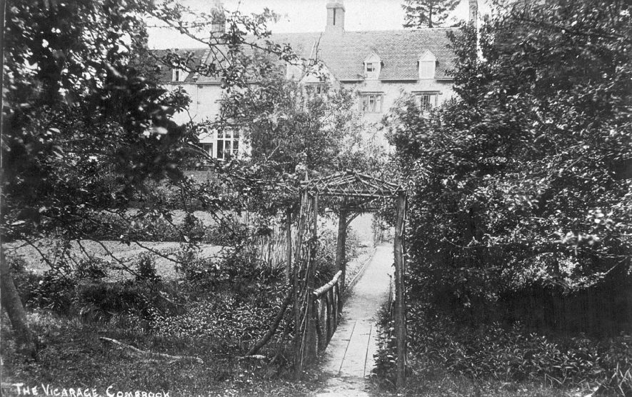The vicarage at Combrook, taken from the garden.  1910s |  IMAGE LOCATION: (Warwickshire County Record Office)