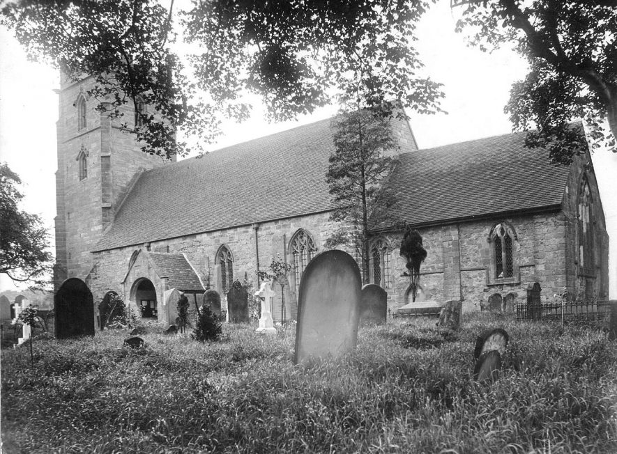 St Nicholas' Church, Curdworth.  1910s |  IMAGE LOCATION: (Warwickshire County Record Office)