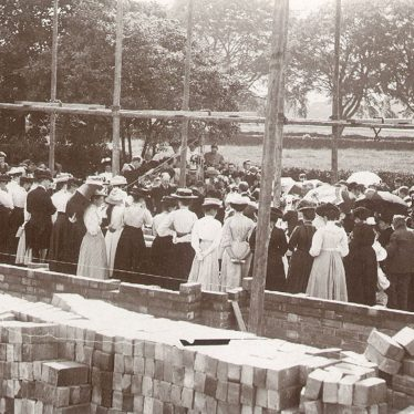 Dunnington.  Laying the school and hall foundation stone