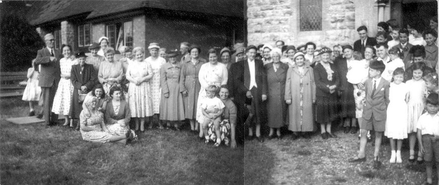 Strawberry tea held at Dunnington.  c.1952    IMAGE LOCATION: (Warwickshire County Record Office) IMAGE DATE: (c.1952)