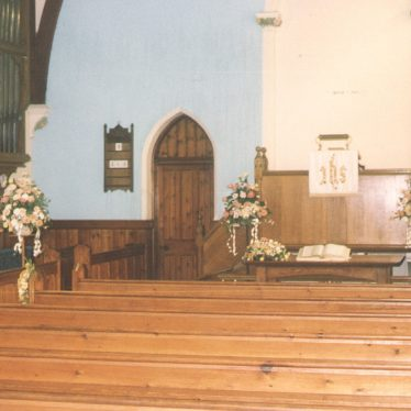 Dunnington.  Baptist Chapel, interior