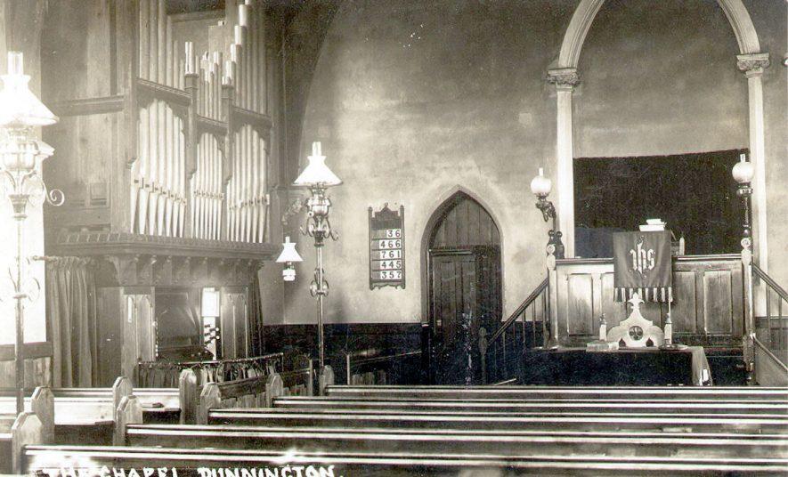 Dunnington, Baptist Chapel, interior.  1926 |  IMAGE LOCATION: (Warwickshire County Record Office)