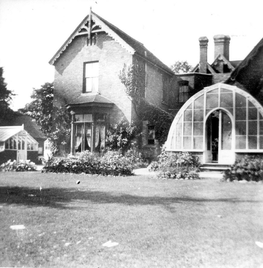 Henley in Arden rectory from the back garden.  1900s |  IMAGE LOCATION: (Warwickshire County Record Office)