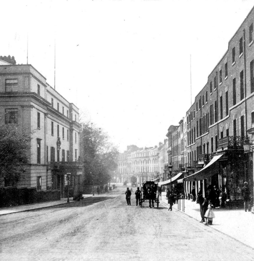 The Parade, Leamington Spa, showing the Regent Hotel on the left.  1860s |  IMAGE LOCATION: (Warwickshire County Record Office)