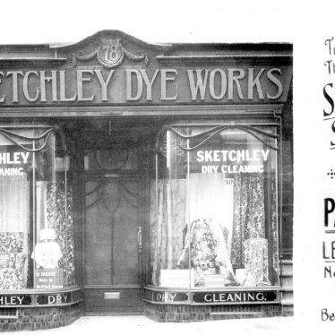 Leamington Spa.  Sketchley shop front