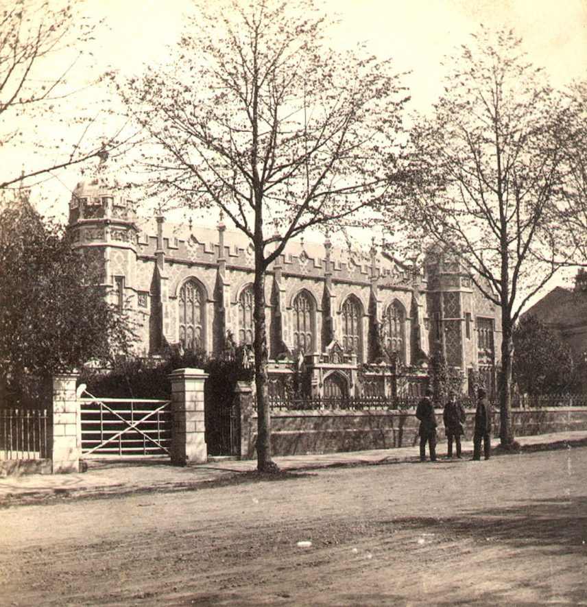 College buildings, Binswood Street, Leamington Spa.  1860s |  IMAGE LOCATION: (Warwickshire County Record Office)