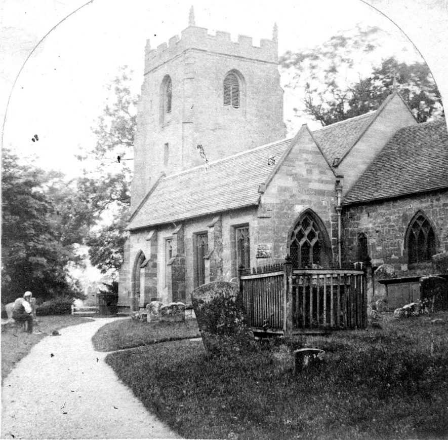 St Mary Magdalene church, Lillington.  1860s |  IMAGE LOCATION: (Warwickshire County Record Office)