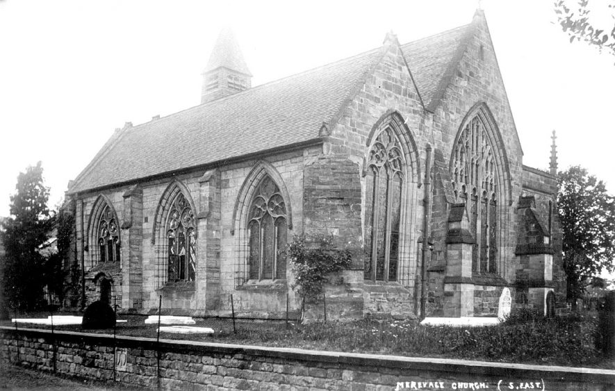 Exterior of the Church of Our Lady, Merevale.  1900s |  IMAGE LOCATION: (Warwickshire County Record Office)
