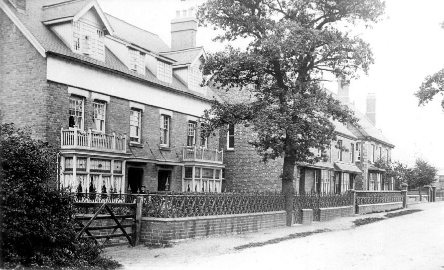 Houses in Station Road, Polesworth.  1900s |  IMAGE LOCATION: (Warwickshire County Record Office)