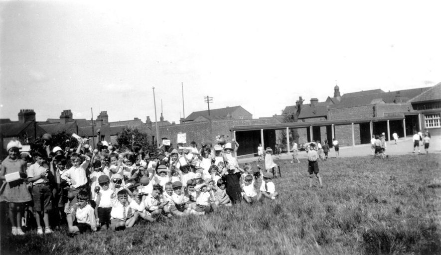 Rugby Northlands County Primary School Sports Day.  The prize winners.  1934 |  IMAGE LOCATION: (Warwickshire County Record Office)