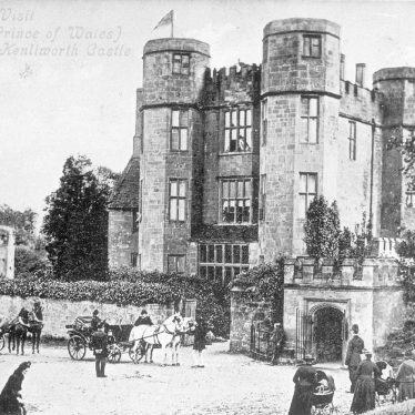 Kenilworth.  Castle, visit by Edward Prince of Wales