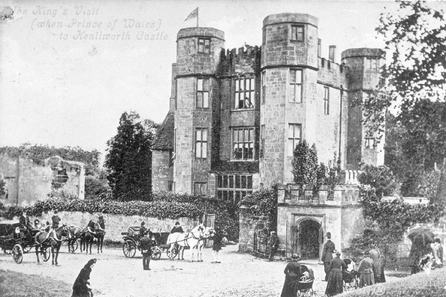 Kenilworth castle and the visit of the then Prince of Wales.  1903 |  IMAGE LOCATION: (Warwickshire County Record Office)