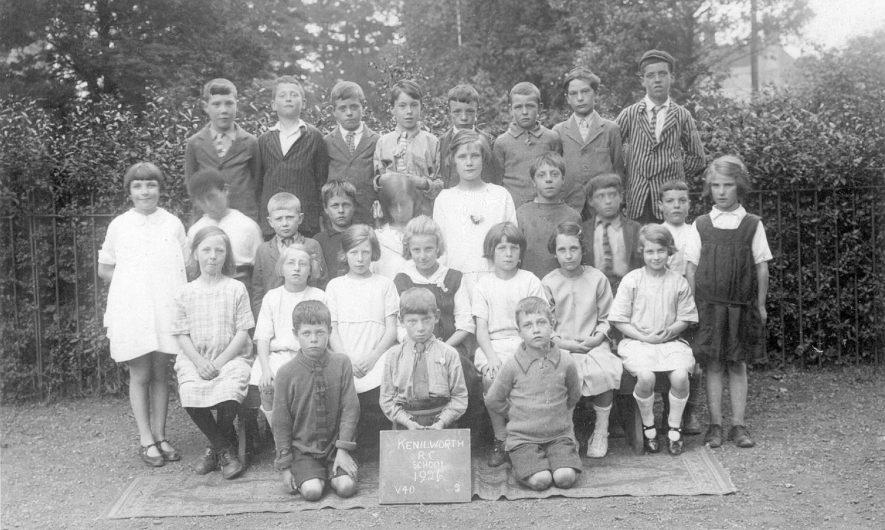Kenilworth Roman Catholic School. A group of children.  1926 |  IMAGE LOCATION: (Warwickshire County Record Office)