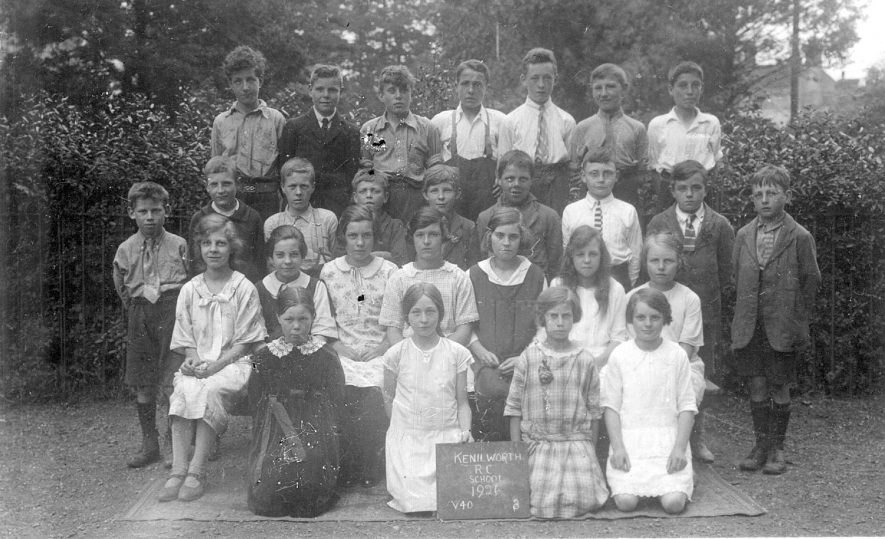 Kenilworth Roman Catholic School.  A group of children.  1926 |  IMAGE LOCATION: (Warwickshire County Record Office)