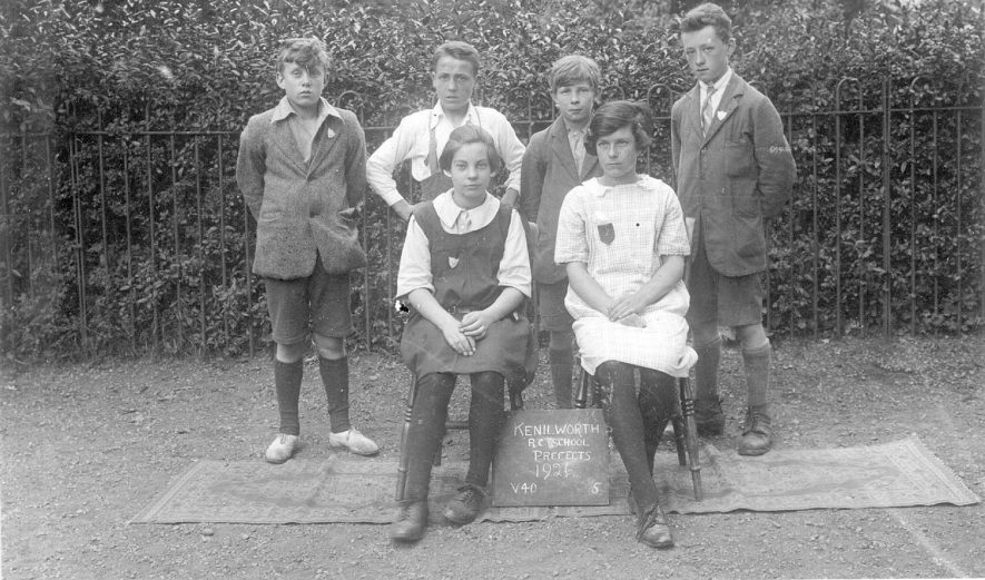 Kenilworth Roman Catholic School.  A group of prefects.  1926 |  IMAGE LOCATION: (Warwickshire County Record Office)