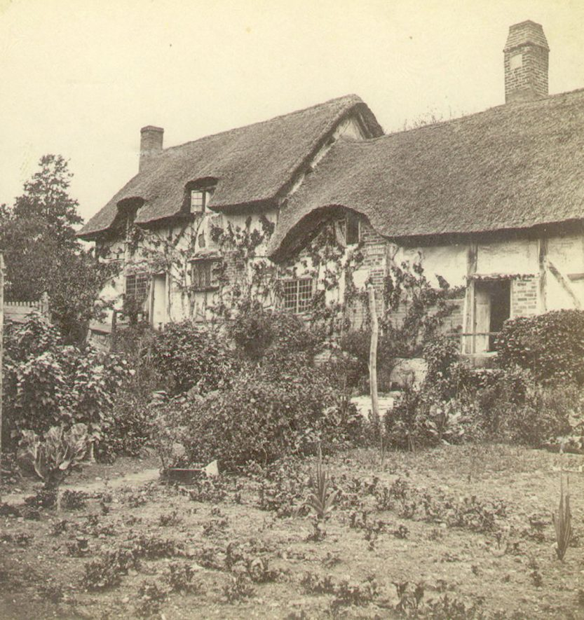 Ann Hathaway's cottage, Shottery.  1870s |  IMAGE LOCATION: (Warwickshire County Record Office)