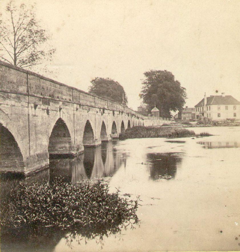 The Old Bridge, Stratford upon Avon.  1870s |  IMAGE LOCATION: (Warwickshire County Record Office)