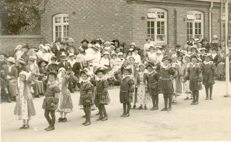 Infants at Studley Council School performing