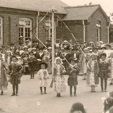 Studley.  Infants with May pole